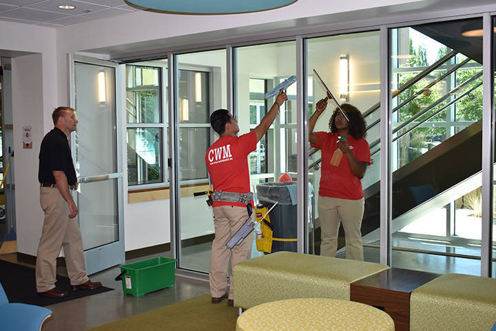 Daily Porter services would include Window and glass washing, painting walls and trim