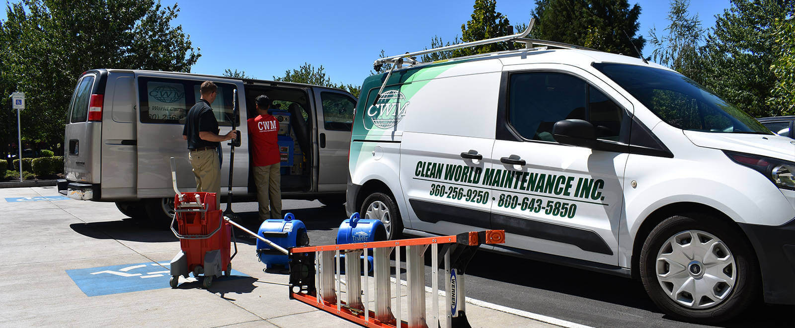 Improve your environment now, call Clean World Maintenance!